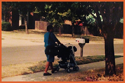 Fred with Caitlyn's Baby Stroller